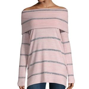 Lightweight Soft Cowl Neck/ Off-shoulder Sweater